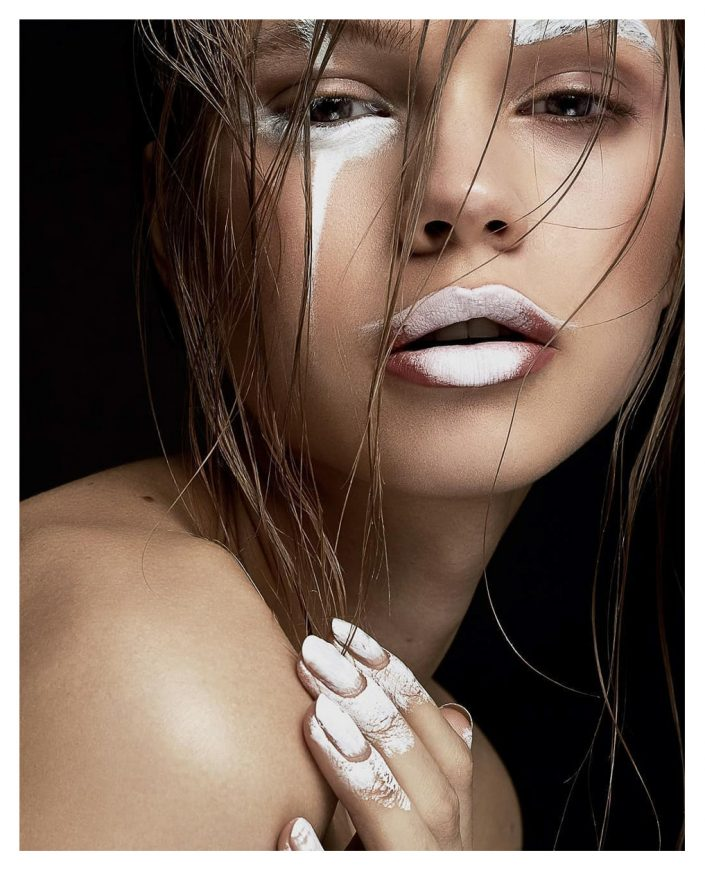 girl portrait with white make up