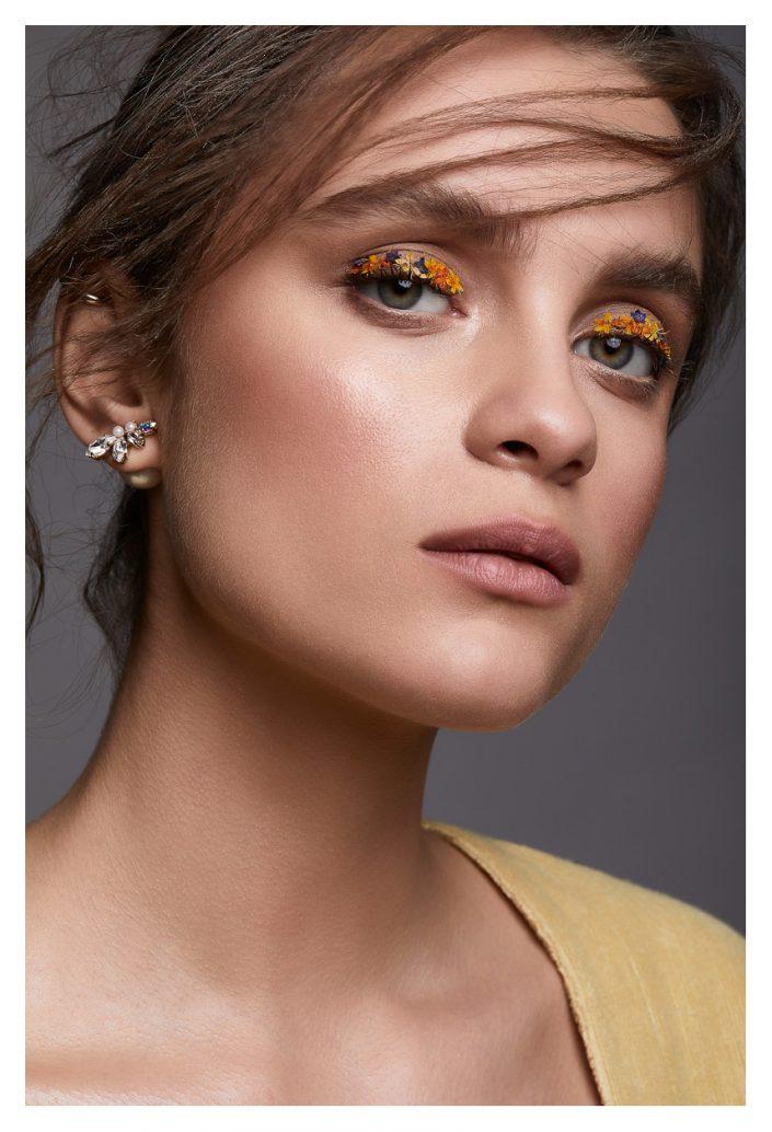 girl portrait with jewellery in studio