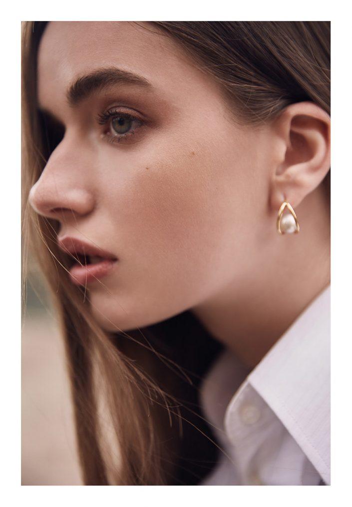 earring on model portrait