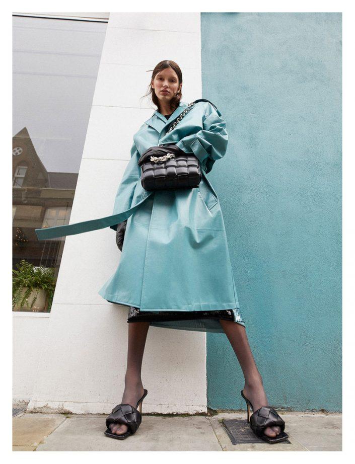 Ekin Can Bayrakdar Model Standing Blue Coat London Street Ekin Can Bayrakdar - Fashion Photographer https://ekincanbayrakdar.com/