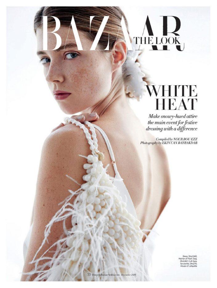 HarpersBazaar Arabia December 2020 Portrait White Dress Ekin Can Bayrakdar - Fashion Photographer https://ekincanbayrakdar.com/
